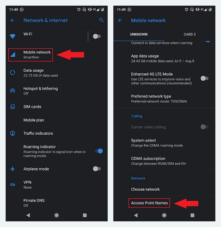 Setting APN di Android