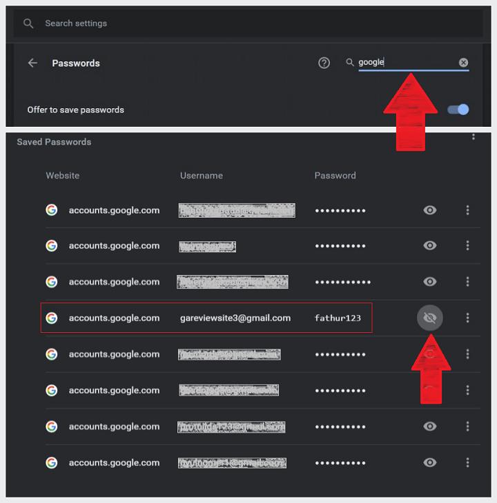Cara Mengetahui Sandi Gmail di PC