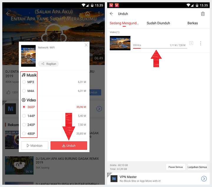 Cara Download Video dengan VidMate