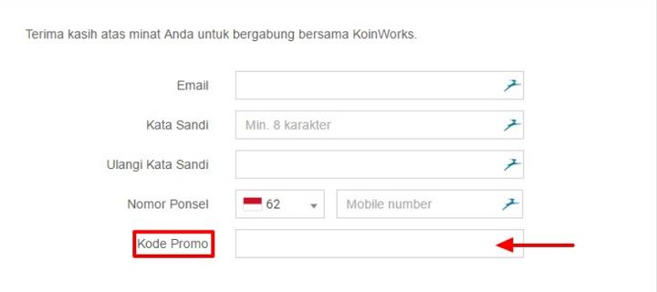Cara Pakai Kode Promo dari KoinWorks