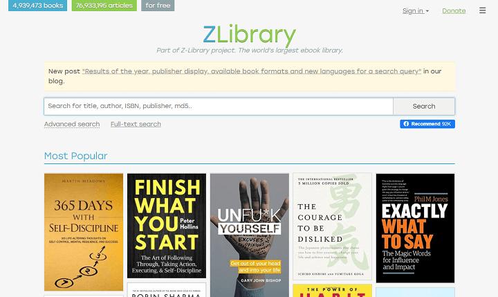Z-Lib Tempat Untuk Download Ebook dan Buku
