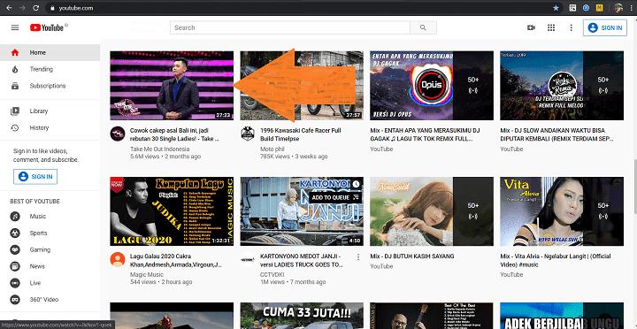 Cara Menyimpan Video Youtbe ke Komputer