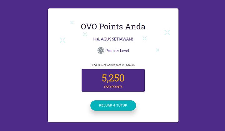 Cara Pindah dan Transfer OVO Point Menjadi OVO Cash