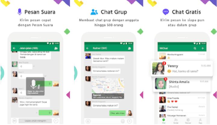 MiChat Aplikasi Chat Gratis di HP iPhone dan Android